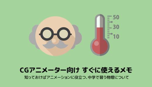 CGアニメーター向けすぐに使えるメモ50(力学的エネルギー保存の法則)